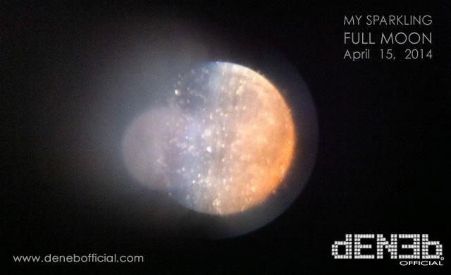 Astrofotografia Sperimentale: La mia Luna Piena Glitterata! - Experimental Astrophotography: My Sparkling Full Moon!