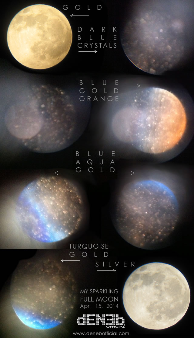 DENEB Official © Photo Gallery:  Astrofotografia Sperimentale: La mia Luna Piena Glitterata! - Experimental Astrophotography: My Sparkling Full Moon!