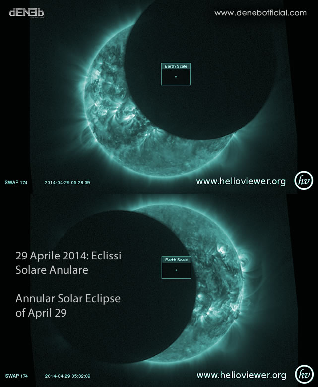 29 Aprile 2014: Eclissi Solare Anulare - Annular Solar Eclipse of April 29