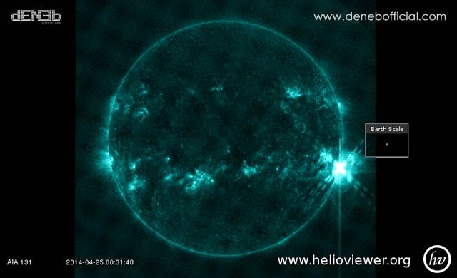 Attività Solare: Brillamento di Classe X1 - Space Weather: X1 Class Solar Flare
