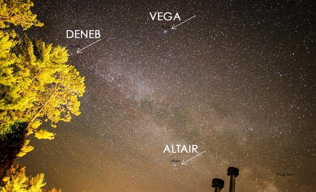 Deneb, Vega, Altair: Triangolo Estivo - Summer Triangle