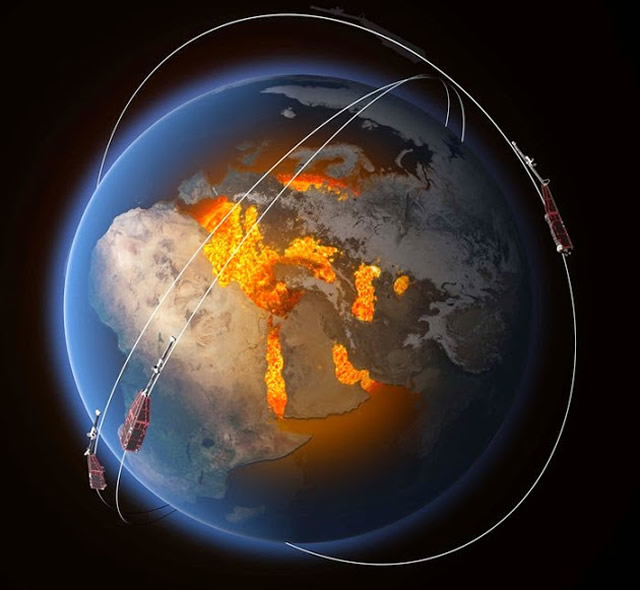 ESA: Swarm Rivela Cambiamenti nel Magnetismo Terrestre - Swarm reveals Earth's Changing Magnetism