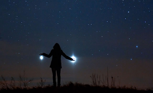 Giove e Venere dalla Terra - Jupiter and Venus from Earth