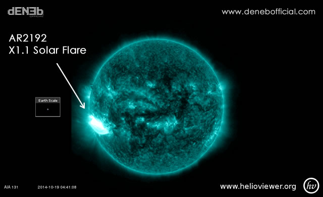 Attività Solare: Solar Flare X1.1 - Space Weather