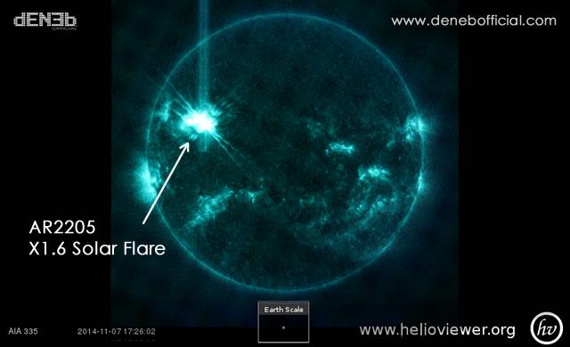 Attività Solare: Brillamento X1.6 - Space Weather: X1.6 Solar Flare