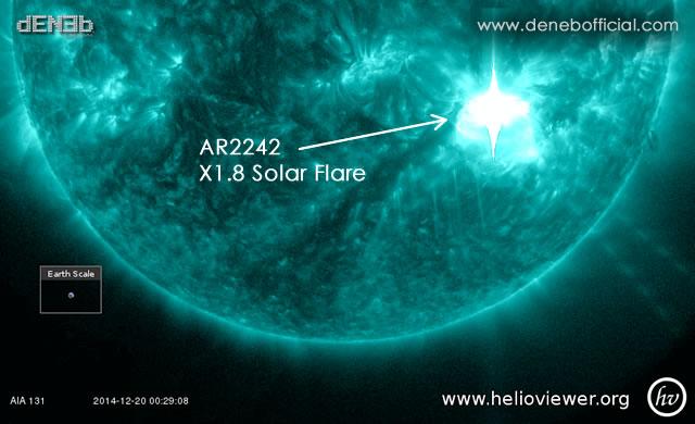 Attività Solare: X2 Solar Flare da AR2242! - Space Weather: X2 Solar Flare!