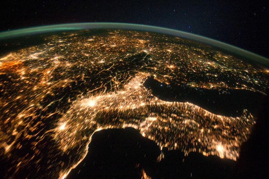 L'Italia vista dalla Stazione Spaziale Internazionale