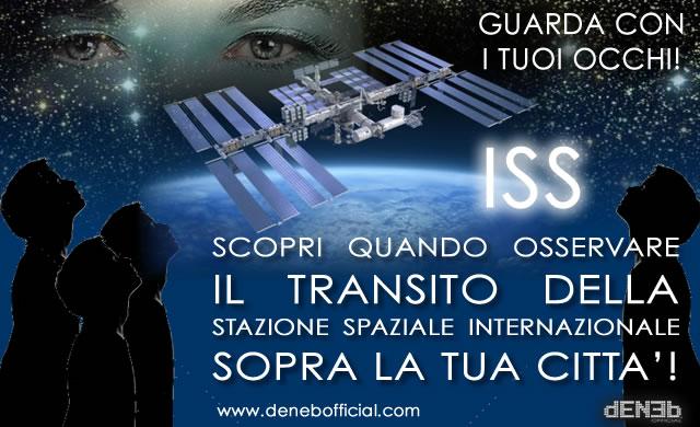 ISS - Osserva il transito della Stazione Spaziale Internazionale sopra la tua città!