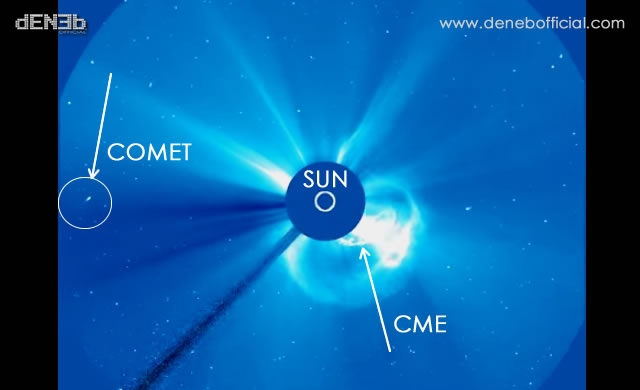 Una Insolita Cometa Vicina Al Sole - An Unusual Comet Near The Sun