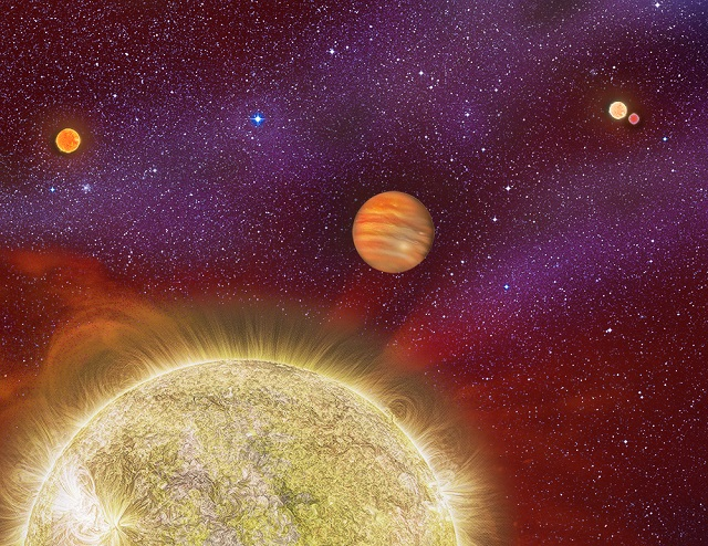 Un Pianeta, Quattro Stelle - One Planet, Four Stars