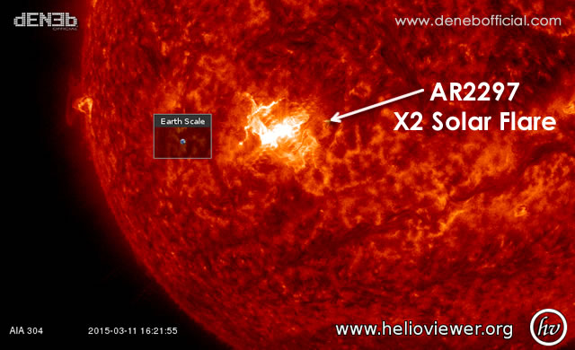 Attività Solare: Radio Blackout + X2 Solar Flare #SpaceWeather