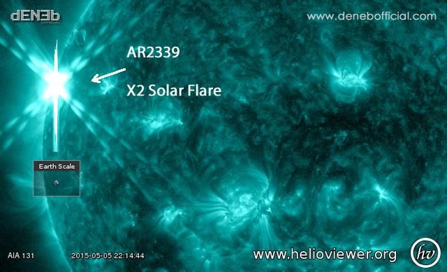 Attività Solare - Space Weather: X2 Solar Flare