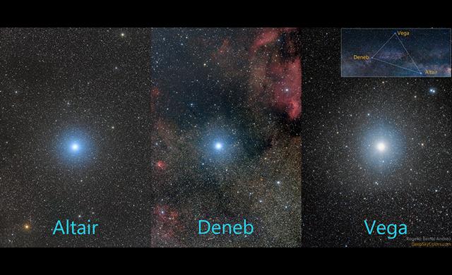 Stelle del Triangolo Estivo: Deneb, Altair e Vega - Stars of a Summer's Triangle