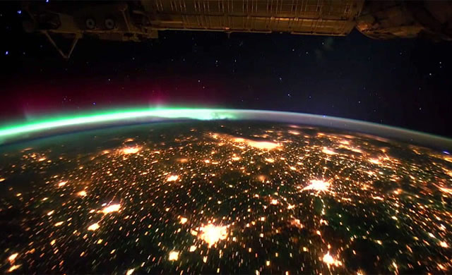 Earth ISS Space Aurora