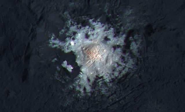 Cerere cratere Occator colori