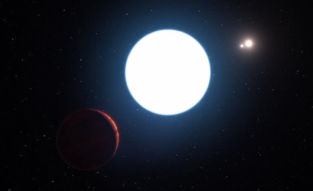 ESO: Un pianeta sorprendente con tre soli - A Surprising Planet with Three Suns