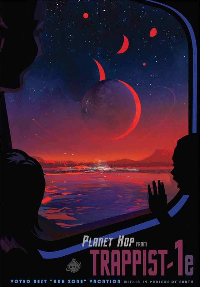 TRAPPIST-1e Poster - Nasa