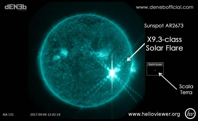 Attività Solare: Potentissimo Brillamento Solare X9,3 - Major X-Class Solar Flare